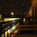 Panorama dal balcone della camera.