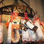 Saucissons - some of the produce on sale
