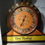Tarot reading machine. It really works! One of the many delightful exhibits.