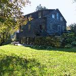 The rear of Grist Mill House.