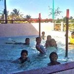 Kiddies pool & playground attracts kids during summer