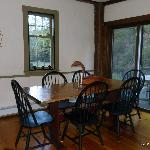 The breakfast dining area.
