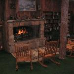 Fort - Rustic Rock Fireplace