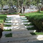 The Steps down towards the Resort Main Door