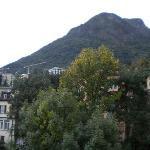 San Salvatore Mountain behind the hotel in Lugano/Paradiso