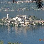 Isola San Giulio can be seen from the hotel grounds