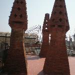 chimeneas de ladrillo visto