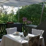 Our new patio where you can enjoy a wonderful breakfast