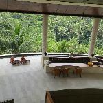 The Jati (teak) Bar featuring two Balinese musicians