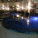 Pool at night. Right outside of the bar.