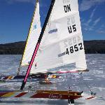 Ice Boating on Lake Sunapee