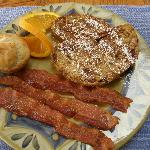 Cranberry Pecan French Toast w/Bacon