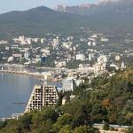 Vista del lungomare di Yalta dalla camera