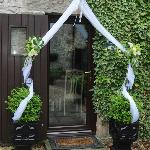 Candle Cottage doorway on our wedding day