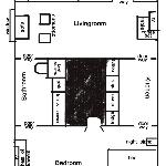 layout of suite not to any scale to help with discription
