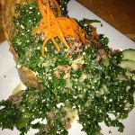 Chiffonade of fresh kale
