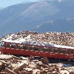 The Cog Railway near the summit