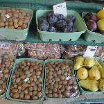Local hazelnuts and plums