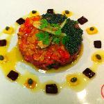 Beef tar tar with caviar