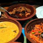 Delicious selection of curries