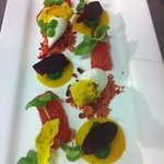 baked beets with frozen ewes cheese
