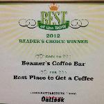 Best Place To Get A Coffee Award