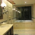 Master Bath, Duel Shower and Jet Tub Which Opens to The Balcony