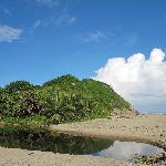 la playa y la lagunita