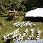 the ceremony and reception at Timberholm Inn