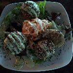 Sesame Incrusted Ground Tuna Cake Appetizer