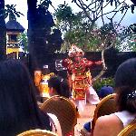 traditional dance inside the resort !