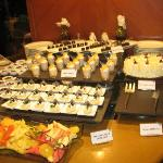 great variety of desserts (buffet)