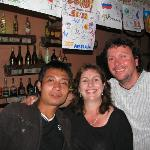Nat and Lars at the best bar in Sapa