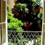 panorama del giardino visto dal balcone della camera