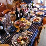 Una cena biologica casalinga