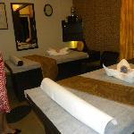 Couple's massage room