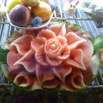 Chef's water melon sculpture
