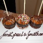 Personalised Chocolate Dipped Caramel Apples...Delicious