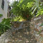 steep stairs to top