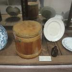 Oregon Trail artifacts display.