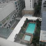 view from my room pool and on the left is low-yat electronics