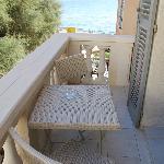 terrasse de la chambre