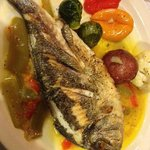 grilled whole dorade