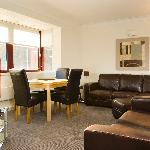 Living area in Three Bedroom Apartment