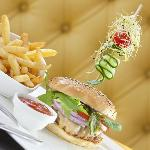 Ikni Hamburger - Our 100% Prime Beef Burger with Melting Idiazabal Cheese, Salad and Fries
