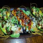 Baked Avocados & Red Light District Roll! Above & Beyond yummy!