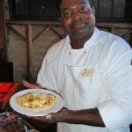 Omelette Chef Doyle Crockett at the Devil's Pool Restaurant