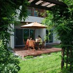 our garden terrace