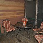 Screened in Porch Hillside Cabin