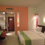 quartos bem decorados e confortáveis.